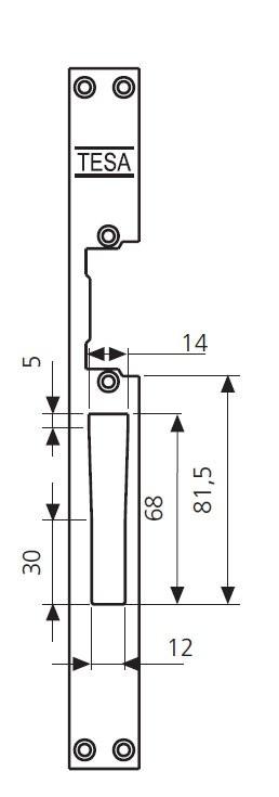 dec2176e38 Elektromos zár Tesa hosszú előlappal - Zárszaküzlet