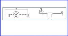 Vitrinzár üveg tolóajtóhoz Z-203
