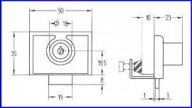 Bútorzár-Vitrinzár A-260