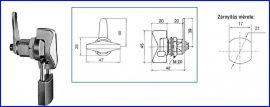 Lakatolható fémbútorzár A-391