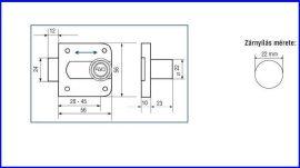 Bútorzár állítható 20-45mm, M-206