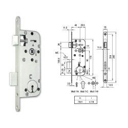 Midi 7-N kulcsos bevésőzár Euro Elzett